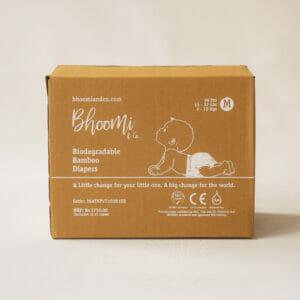 Bhoomi & Co Bio-Degradable Bamboo Baby Diapers 96 Count Medium
