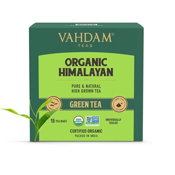 Organic Himalayan Long Leaf Green 15 Tea Bags- Slim Tea