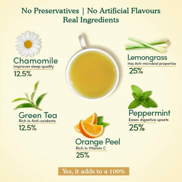 Organic Chamomile Mint Green 50 Tea Bags- For Stress Relief & Sleep
