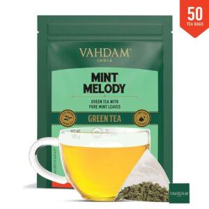 Organic Mint Melody Green 50 Tea Bags - Aids Digestion, Refreshing Tea