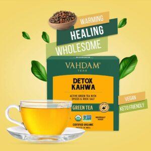 Organic Detox Kahwa Green 15 Tea Bags- Ayurvedic Kahwa for Cold Relief