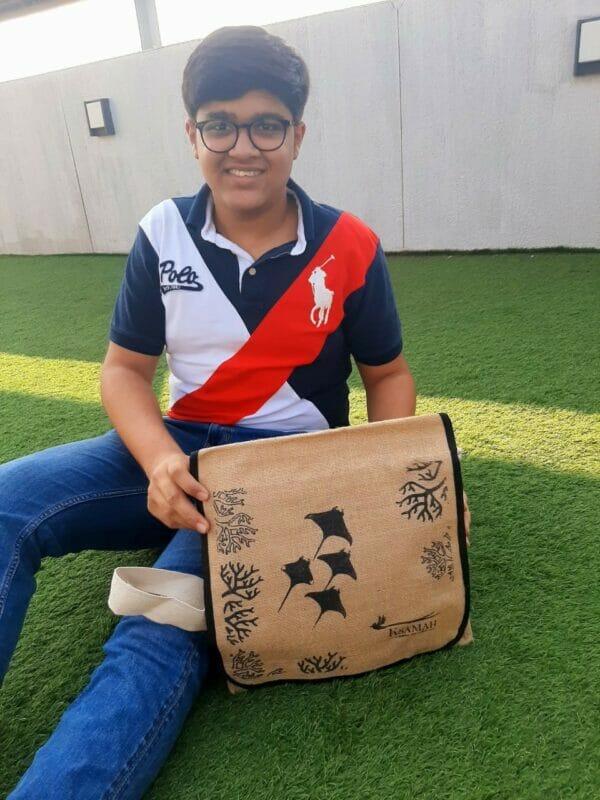 KSAMAH Eco-Friendly Jute Side Sling Bag