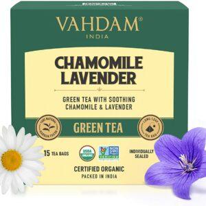Chamomile Lavender Green 15 Tea Bags - Calming Tea for Sleep