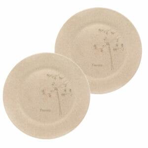 KSAMAH Eco-Friendly Rice Husk Plates 10inch - Set of 2