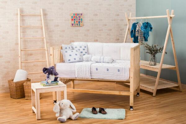 Baby Bedding Set- Blue Elephant
