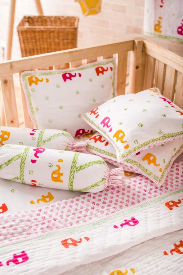 Baby Bedding Set- Colorful Elephant