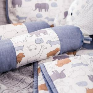 Baby Bedding Set- Grey Jumbo