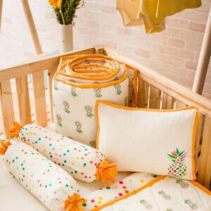 Baby Bedding Set- Pineapple