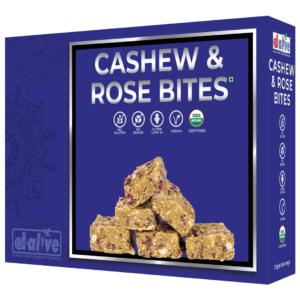 d alive Organic Cashew & Rose Bites - 200g