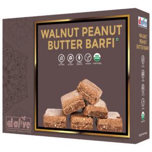d alive Organic Walnut Peanut Butter Barfi - 200g