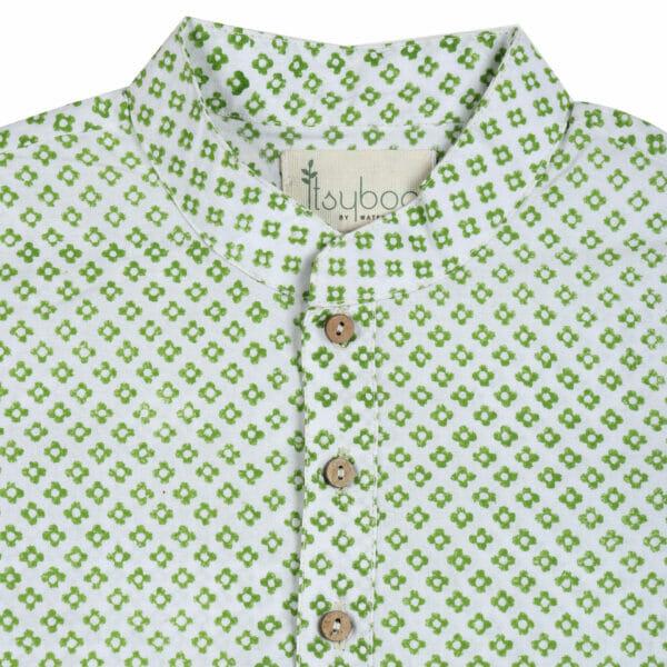 Kurta Pajama- Green Block