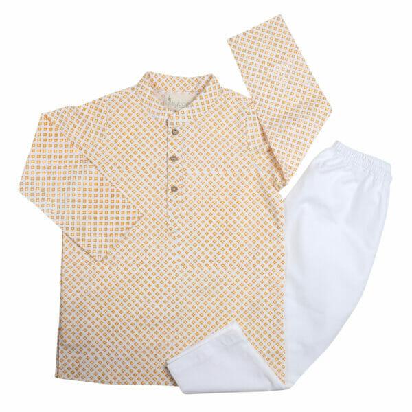 Kurta Pajama- Yellow Block