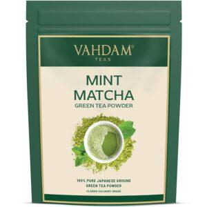 Pure Mint Matcha Green Tea Powder, Japan Origin - Refreshing Tea