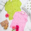 Kurta Pajama- Pink Lehriya