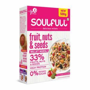 Soulfull Fruit ,Nuts & Seeds Millet Muesli 500gm