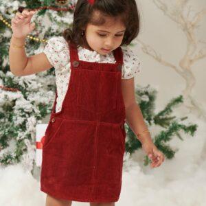 Harper Corduroy Dungaree Dress