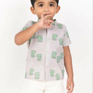 Kristoff Elephant Print Shirt
