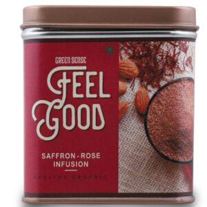 Green Sense Organic Feel Good Saffron-Rose Infusion - 100g