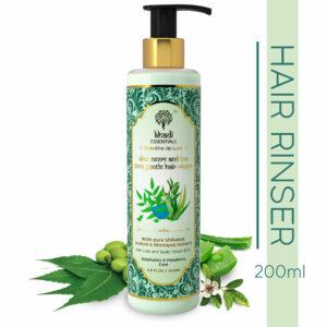 Khadi Essentials Aloe, Neem & Tea Tree Gentle Hair Rinser-With Pure Shikakai, Brahmi & Bhringraj Extracts