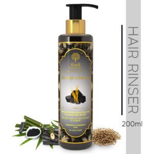 Khadi Essentials The Kajli Collection-Activated Bamboo Charcoal & Barley Hair Rinser