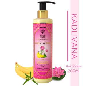 Khadi Essentials Kadlivana-Banana, Lotus & Bhringraj Luscious Hair Rinser