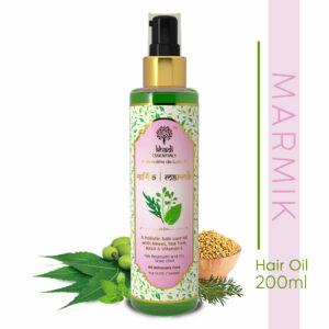Khadi Essentials Marmik-Regenerative Hair Oil with Neem, Tea Tree, Basil & Vitamin E