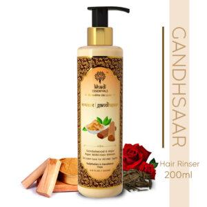 Khadi Essentials Gandhsaar- Sandalwood & Agar Agar Mild Hair Rinser