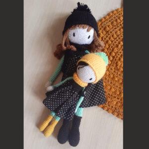 Plumtales Handmade Amigurumi Tia Mom - Daughter Set(Baby Doll Size - 22cm,Mom Doll Size - 32 cm)
