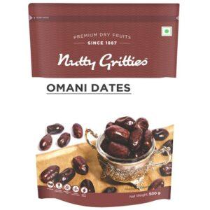 Nutty Gritties Omani Dates Khajoor - 500g (Pack of 1)