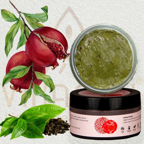 Green Tea & Pomegranate Tan Removal Scrub