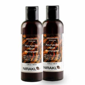 Ayurvedic Skin Illuminator Value Pack | Nirakle DinesaVilyadi Tailam | For Naturally Glowing Skin & Even Complexion (Pack of 2) (100 ml x 2)