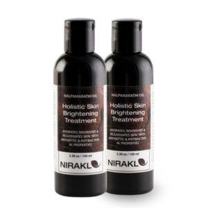 Holistic Skin Brightening Value Pack | Nirakle Nalpamaradi Oil | For Radiant Complexion & Skin Rejuvenation | For Naturally Glowing Skin (Pack of 2) (100 ml x 2)
