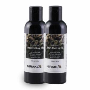 Skin Detox Oil Value Pack | Nirakle Eladi Oil | Improves Skin Texture | For Radiant Glowing Skin | Moisturizer (Pack of 2) (100 ml x 2)