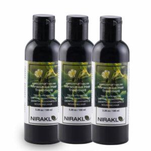 Miraculous Hair Oil Value Pack | Nirakle Kannunyadi Tailam | Rejuvenates & Nourishes Hair (pack of 3) (100 ml x 3)