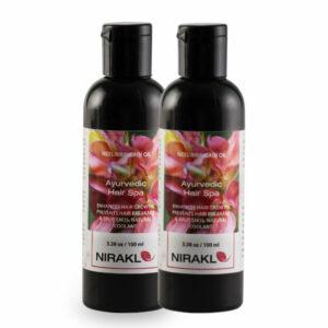 Ayurvedic Hair Spa Value Pack | Nirakle NeeliBringadi Hair Oil (Pack of 2) (100 ml x 2)