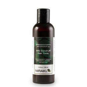 Anti Dandruff Hair Tonic   Nirakle DurdooraPathradi Anti Dandruff Oil   Ayurvedic Hair Oil for Men and Women   For Thick Luscious Hair   Promotes Hair Growth   100% Natural (100 ml)