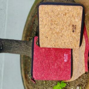 Kiwi Zip Cork Wallet