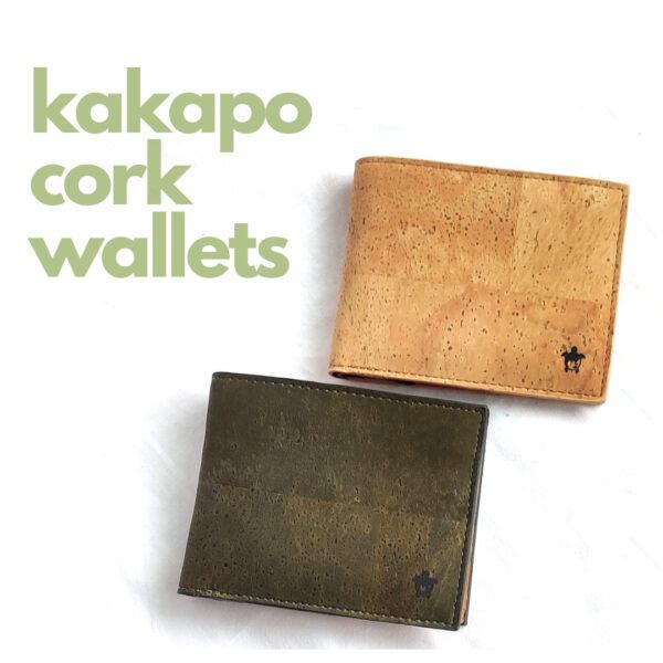 Kakapo Bifold Cork Wallet