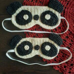 Plumtales Handcrafted Amigurumi Panda Sleep Eye Mask(White , Size - Kids size upto 7 yrs, Single piece)