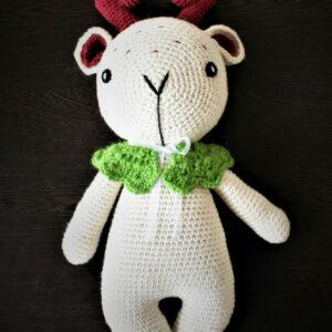 Plumtales Handmade Amigurumi Cuddles - The Deer (Antlair Color,34 cm)
