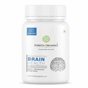 Foresta Organics Brain Health with Brahmi, Shankhpushpi & Gingko Biloba