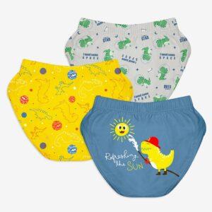 SuperBottoms Unisex Toddler Brief / Underwear 3-4 yrs-Finding Dino