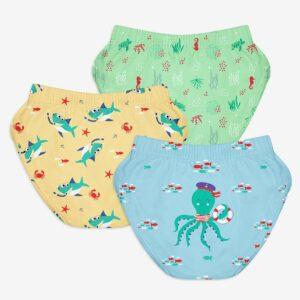 SuperBottoms Unisex Toddler Brief / Underwear 3-4 yrs-Sea-Saw