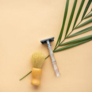 Double Edge Safety Razor with Bamboo Handle