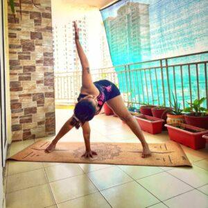 Eco Friendly Cork Yoga Mat With Natural Rubber ( Mandala Design )