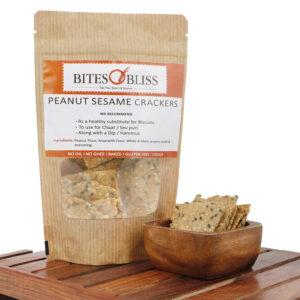 Peanut Sesame Crackers