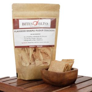khapli flaxseed crackers