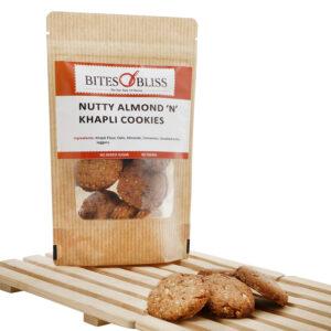 Nutty Almond Khapli Cookies