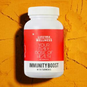 Lifetox Wellness Immunity Boost with Turmeric (Curcumin) | Multivitamin (60 Tablets)