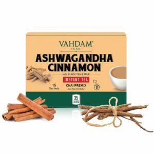 Ashwagandha Cinnamon INSTANT TEA Premix - 10 Sachets
